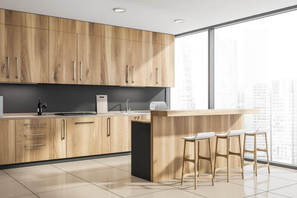 5 kiểu bàn đảo bếp nhà chung cư siêu tiện ích