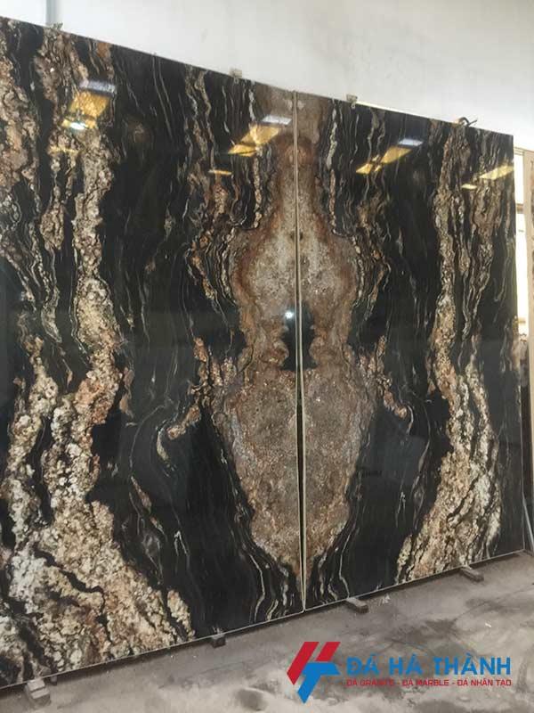 Đá black taurus ốp tranh đá trang trí phòng khách