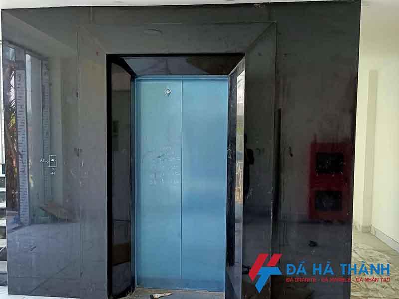 Đá Granite tự nhiên kim sa ốp thang máy tại Hà Nội