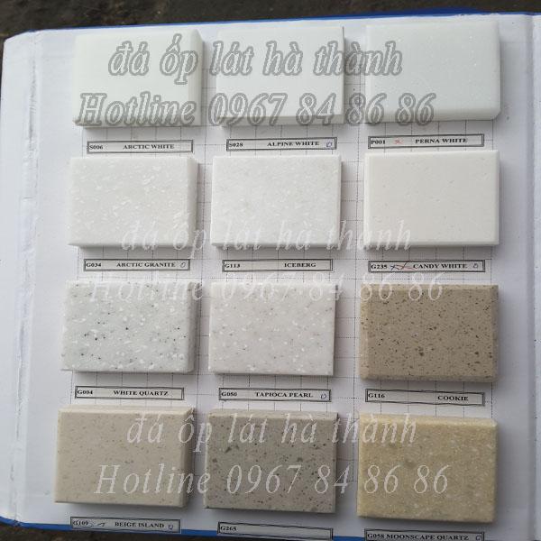 mẫu đá nhân tạo solid suface