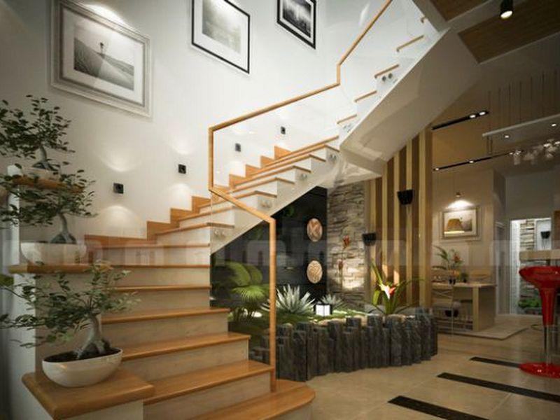 Trang trí bậc tam cấp cầu thang đẹp bằng tranh nghệ thuật