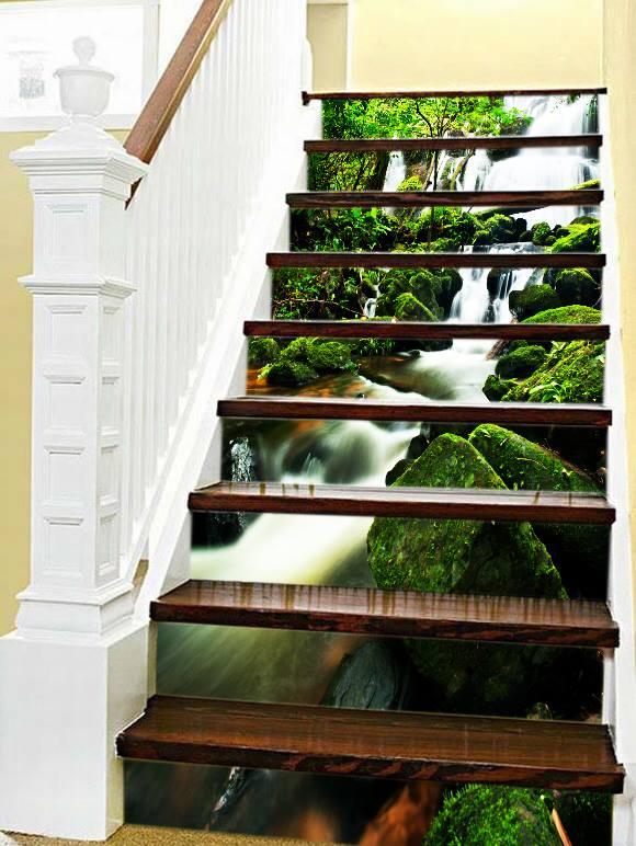 Trang trí bậc tam cấp cầu thang đẹp bằng nghệ thuật vẽ 3D