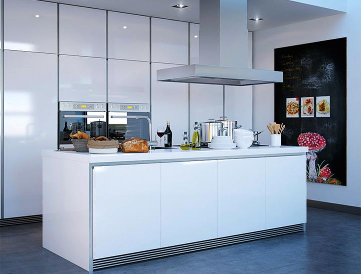 Đảo bếp dùng để sắp xếp thực phẩm, kết hợp thêm bếp nấu