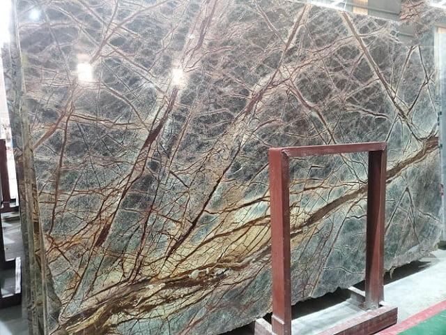 Đá Forest Marble vân xanh nổi bật