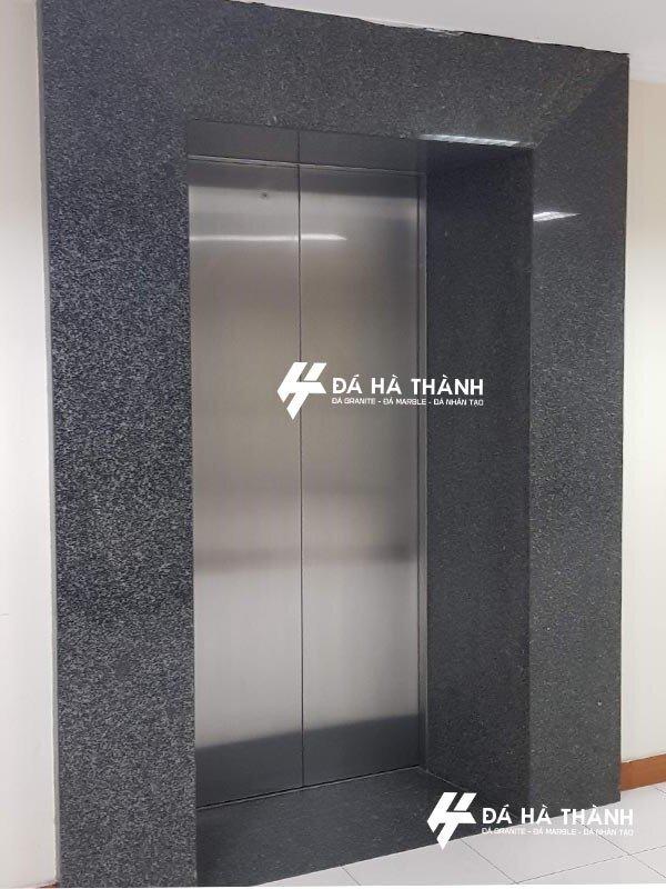 đá granite đen phú yên ốp thang máy
