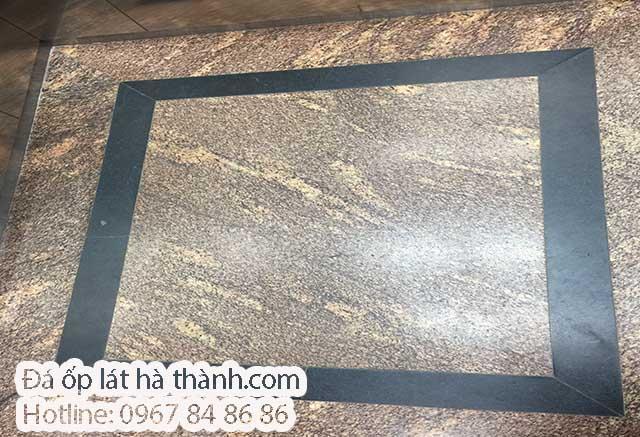 Đá Granite vàng Anh Quốc ốp cabin thang máy