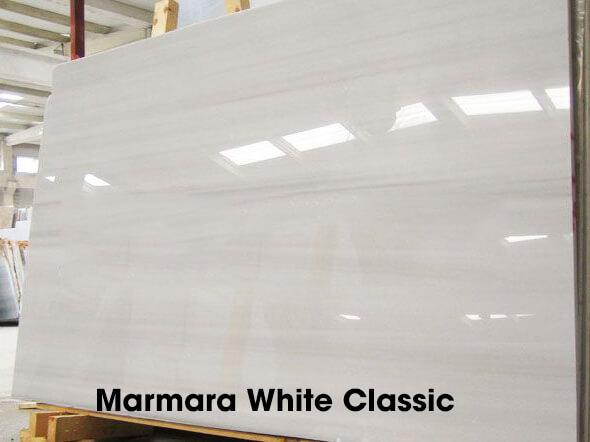 Marmara White Classic: là loại có ít đường vân hơn và nền có màu trắng hơn