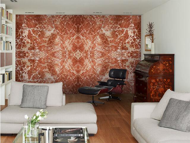 Ứng dụng làm đá ốp lát tường phòng khách