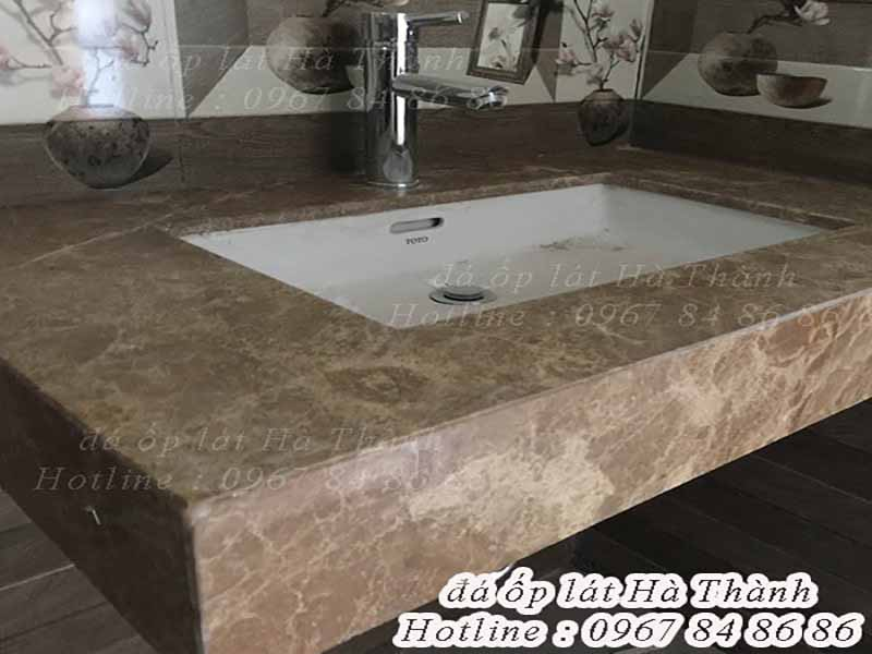 Đá marble tự nhiên ốp lavabo