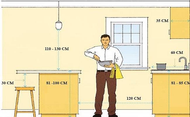 Kích thước bàn đảo bếp tiêu chuẩn và cách sắp xếp hợp lý