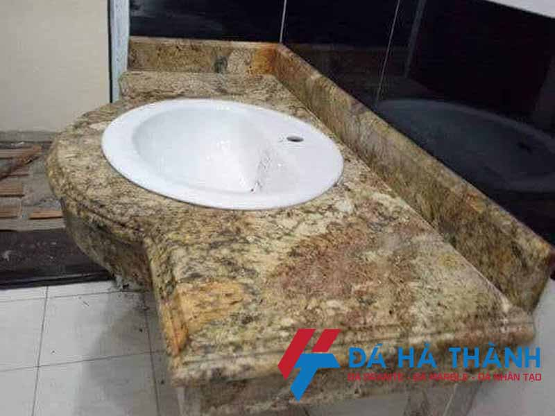 lavabo đá marble lắp dương vành