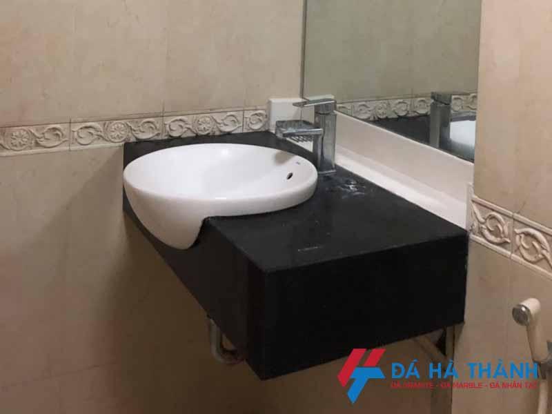 Mẫu đá granite đen kim sa ốp lavabo