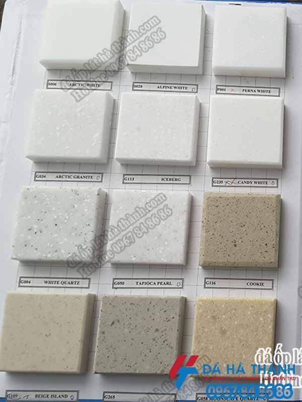 mẫu đá nhân tạo solid suface ốp bàn bếp
