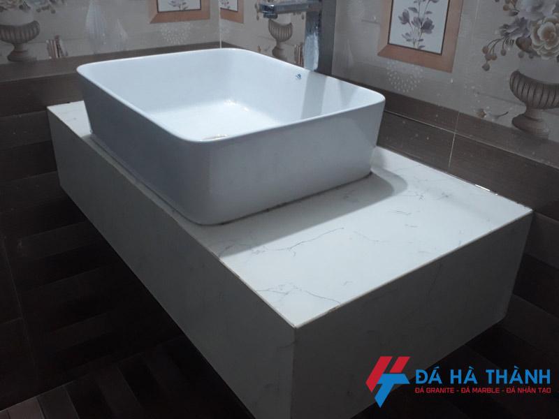 Sửa chữa đá ốp lavabo tại chung cư T18 Ttime City