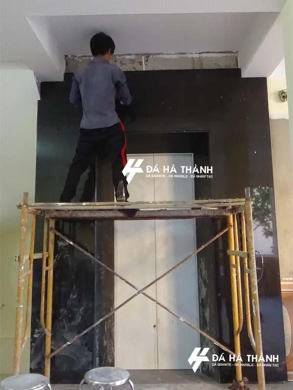 thi công đá ốp thang máy đẹp tại hà nội